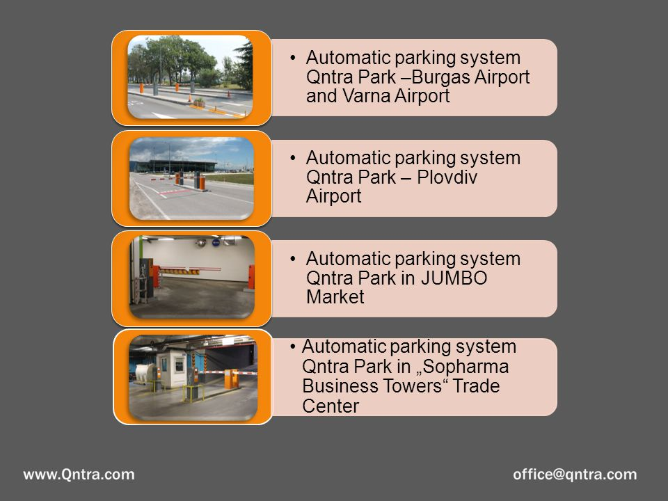 Qntra Park Parking system in hypermarket Piccadilly - Strelbishte Qntra Park Parking system in hypermarket Piccadilly - Mladost Qntra Park Parking system in Albena resort