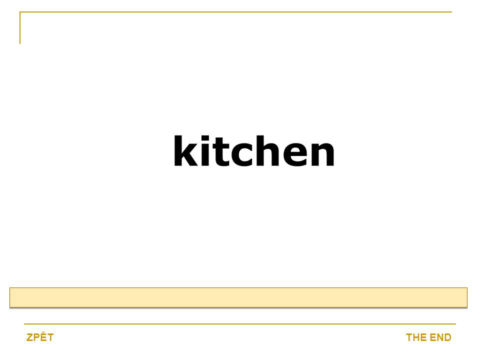kitchen THE ENDZPĚT