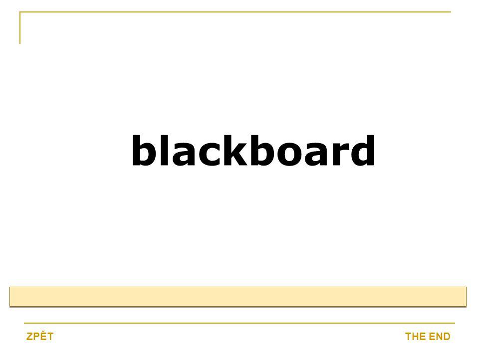 blackboard THE ENDZPĚT