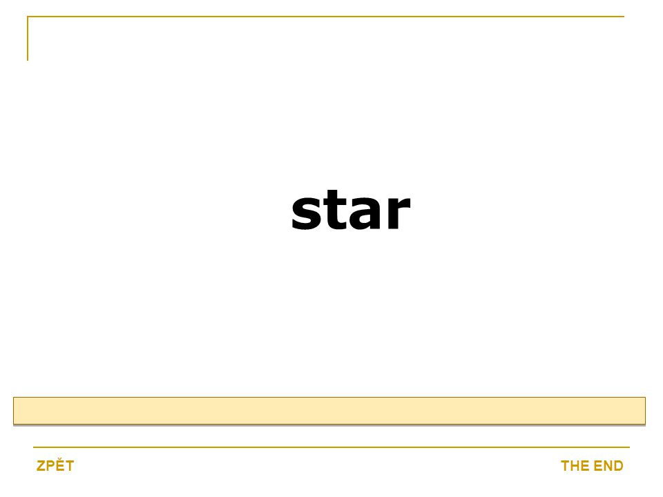 star THE ENDZPĚT
