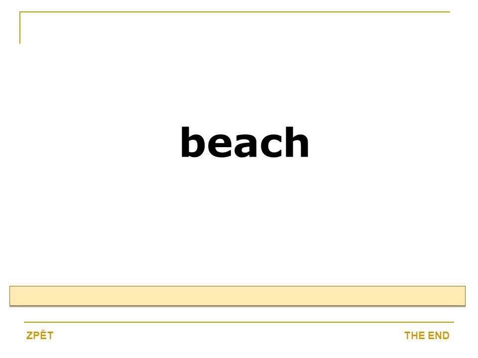 beach THE ENDZPĚT