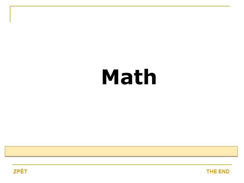 Math THE ENDZPĚT