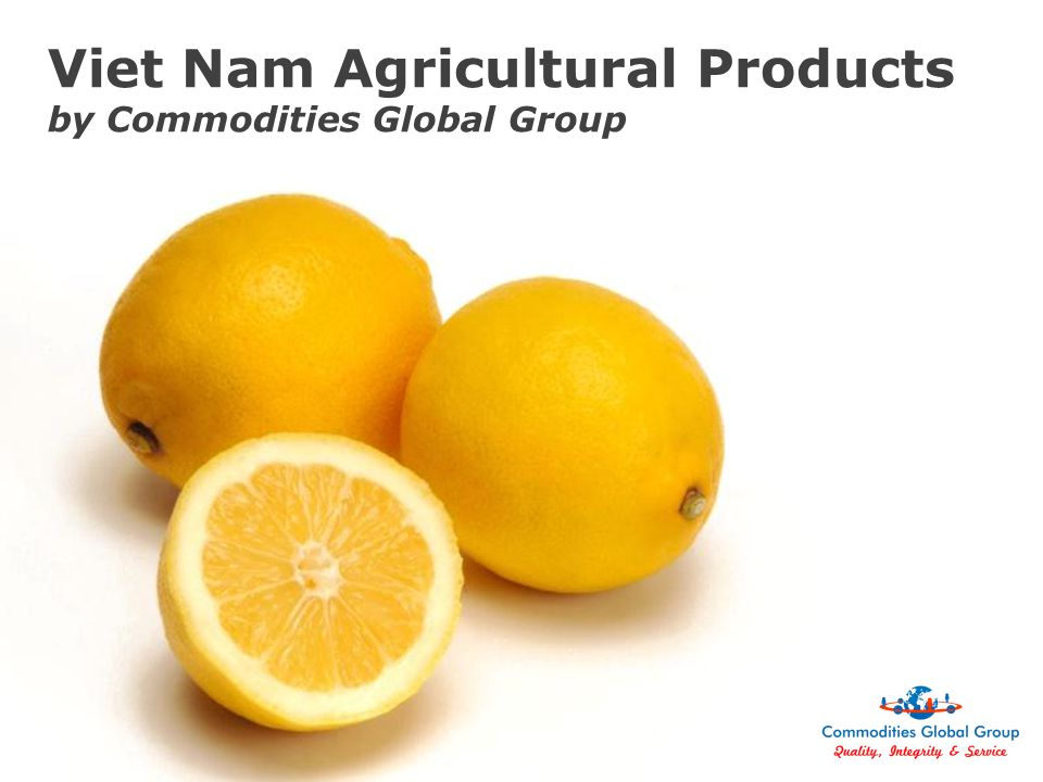 Page 1 Viet Nam Agricultural Products by Commodities Global Group