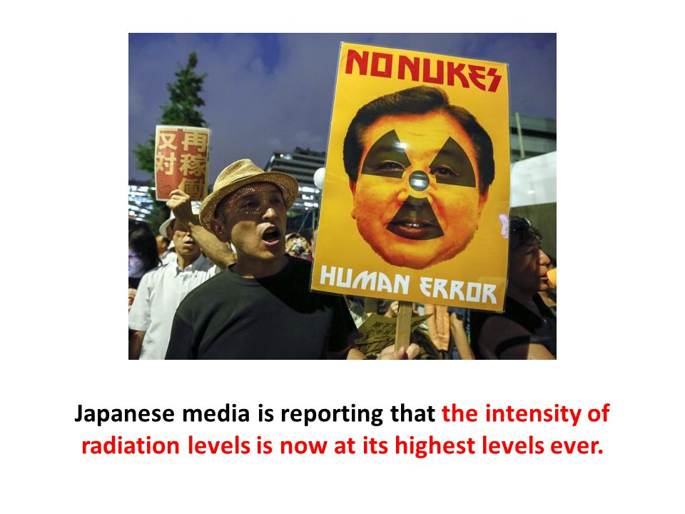 Japanese media is reporting that the intensity of radiation levels is now at its highest levels ever.