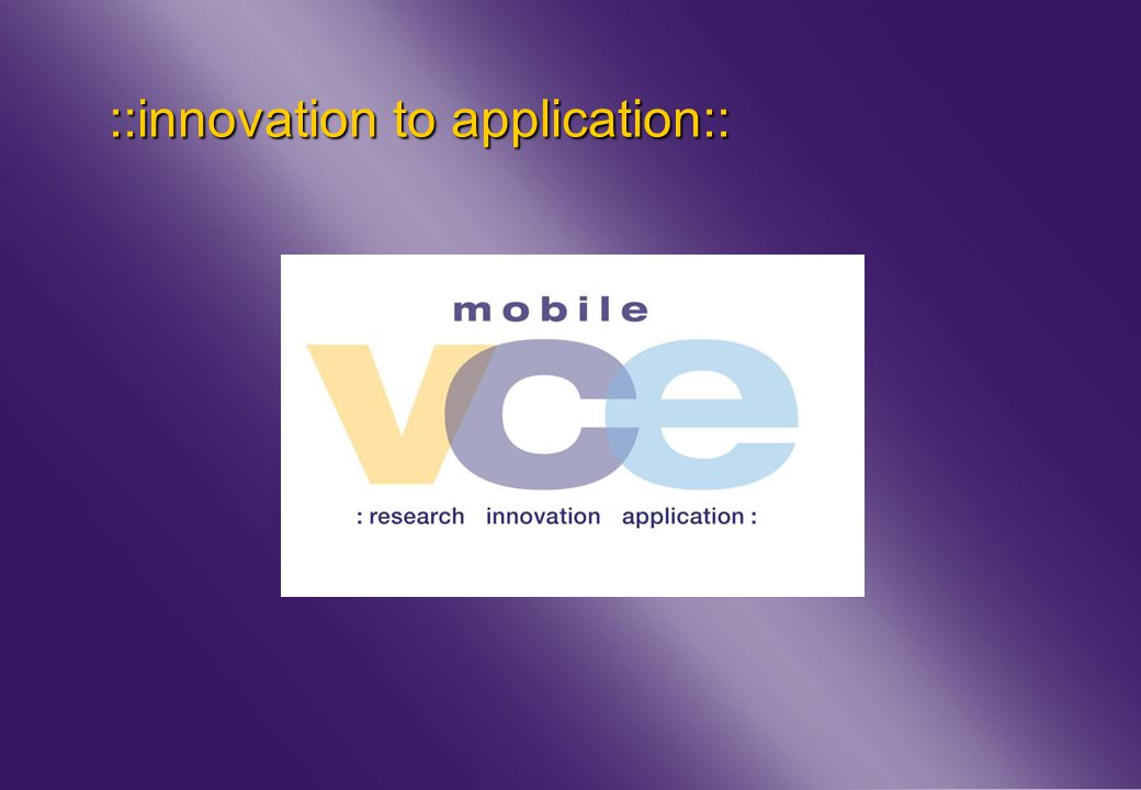 www.mobilevce.com © 2011 Mobile VCE ::innovation to application::