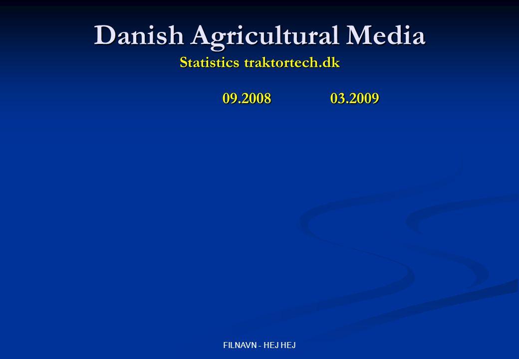 FILNAVN - HEJ HEJ Danish Agricultural Media Statistics traktortech.dk 09.2008 03.2009