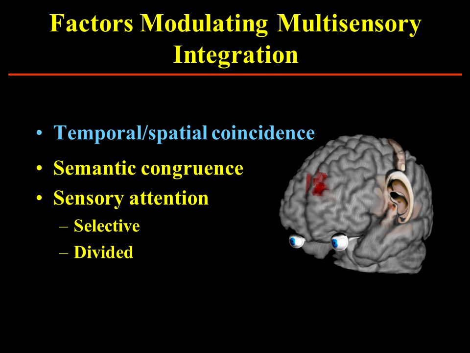 Multisensory Enhancement AuditoryMultisensoryVisual * Cross-modal Visual 1Visual 2Dual-Visual ns Dual-visual