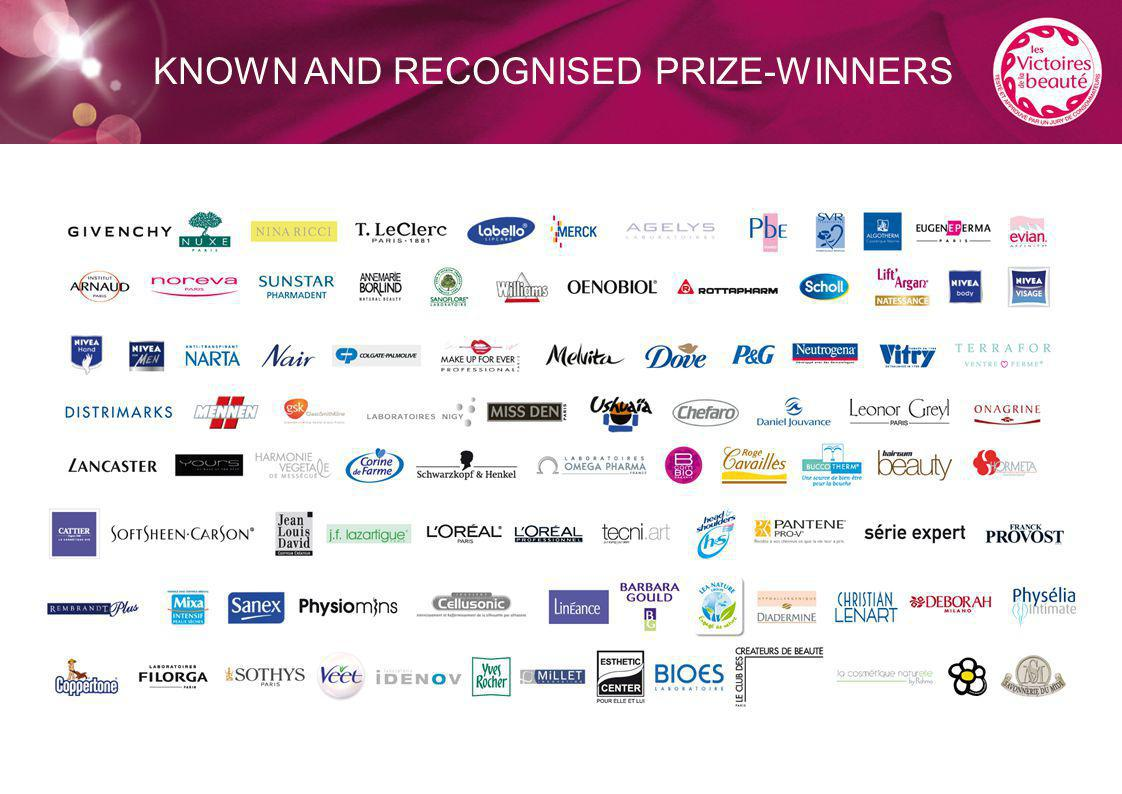KNOWN AND RECOGNISED PRIZE-WINNERS