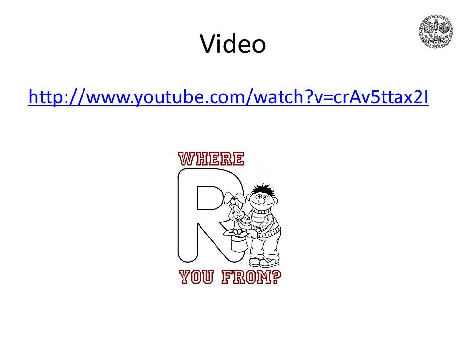Video http://www.youtube.com/watch v=crAv5ttax2I