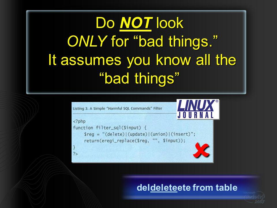 The Turkish-I problem (Applies also to Azerbaijan!) Turkish has four letter 'I's i (U+0069) ı (U+0131) İ (U+0130) I (U+0049) In Turkish locale UC( file )==FİLE // Do not allow FILE:// URLsFILE:// if(url.ToUpper().Left(5) == FILE: ) return ERROR; getStuff(url);  // Only allow HTTP:// URLs HTTP:// if(url.ToUpper(CULTURE_INVARIANT).Left(5) == HTTP: ) getStuff(url); else return ERROR;