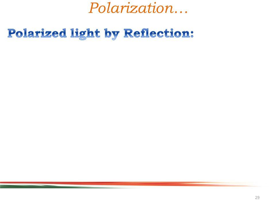 29 Polarization…