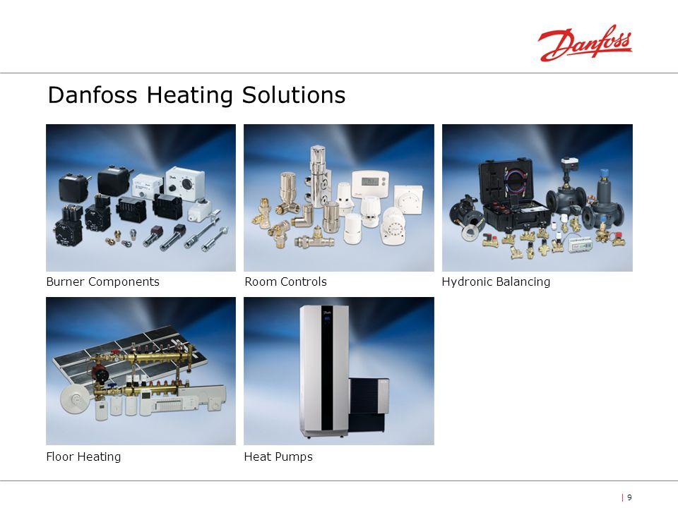 | 9| 9 Danfoss Heating Solutions Burner ComponentsRoom ControlsHydronic Balancing Floor HeatingHeat Pumps