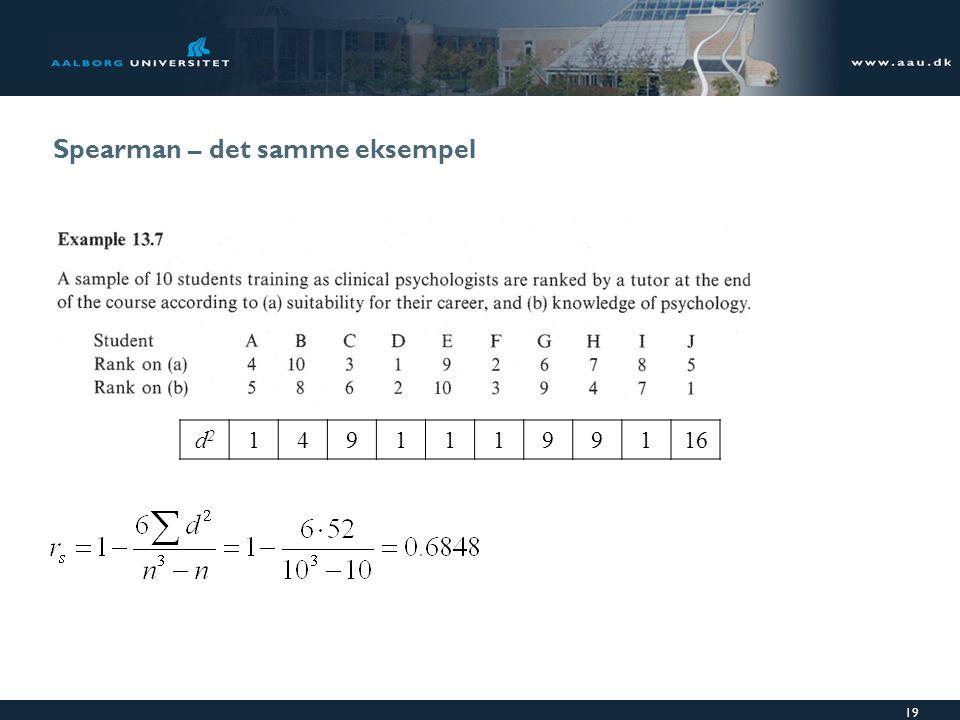Spearman – det samme eksempel d2d2 14911199116 19