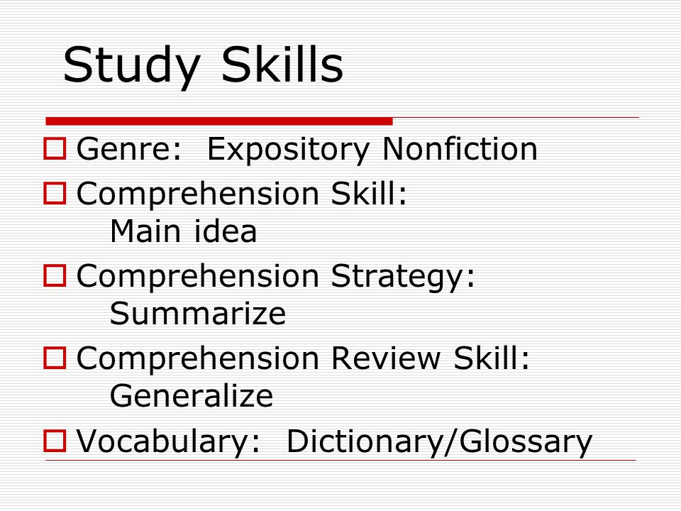 Genre: Expository Nonfiction  Expository Nonfiction is fiction that gives factual information about the real world.