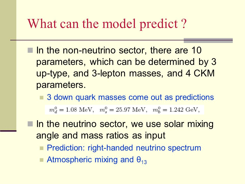 What can the model predict .