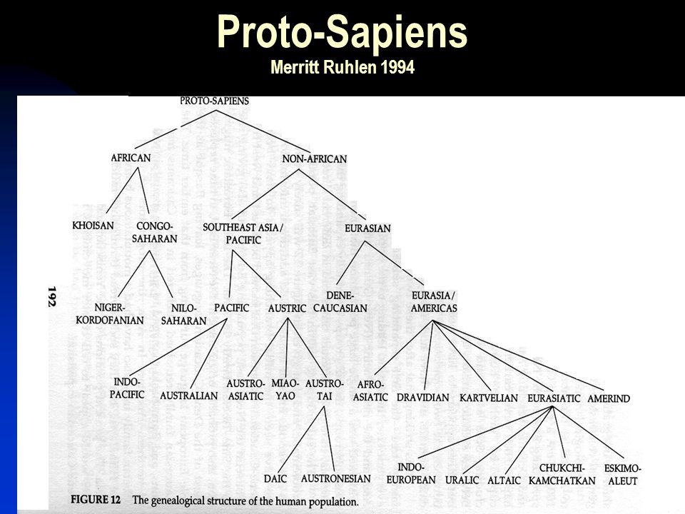 Proto-Sapiens Merritt Ruhlen 1994