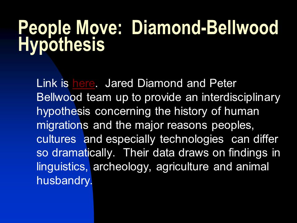 People Move: Diamond-Bellwood Hypothesis Link is here.