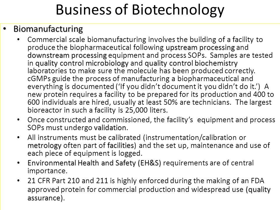 Ten Technician Jobs Anchor Ten Biomanufacturing Departments Facilities/Metrology Validation Environmental Health and Safety (EH&S) QA Upstream Processing Downstream Processing QC Microbiology QC Biochemistry Process Development