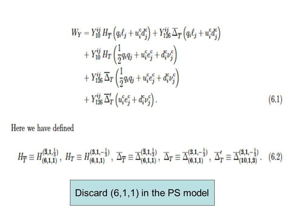 Discard (6,1,1) in the PS model