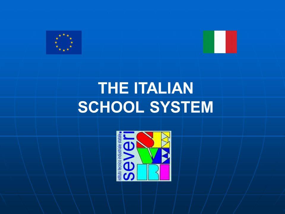 THE ITALIAN SCHOOL SYSTEM