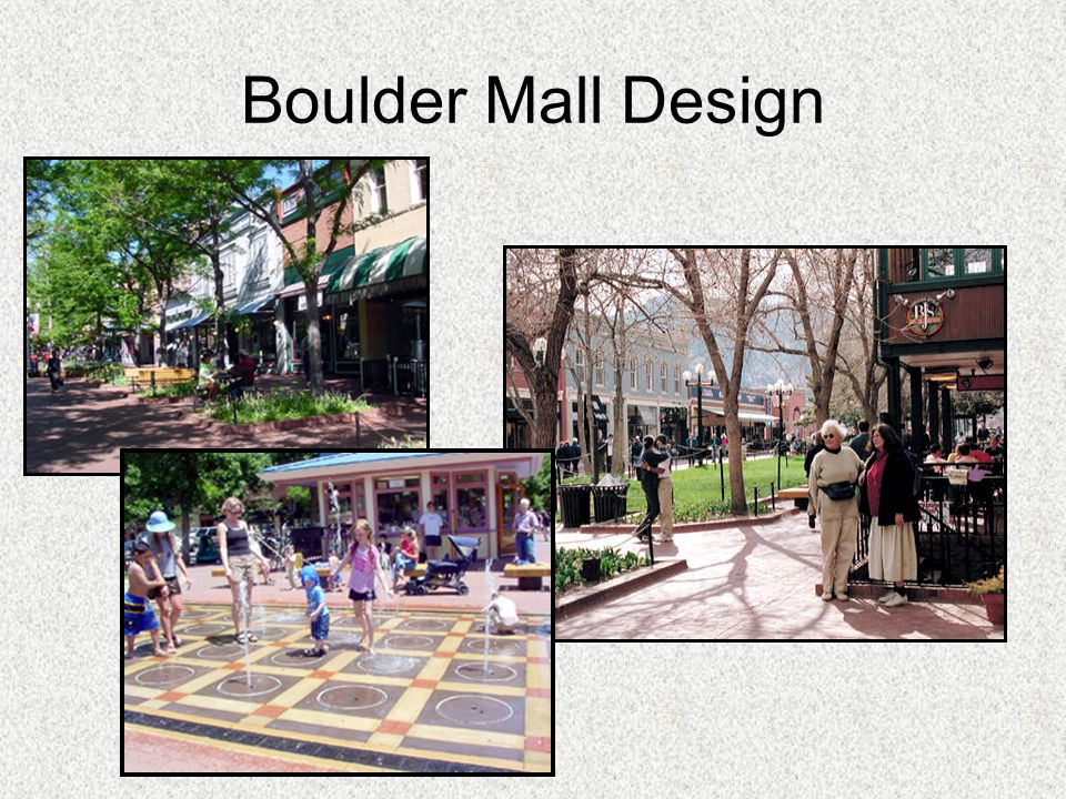 Boulder Mall Design