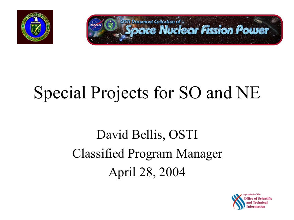NE-50/NASA Support 97 Registered IDs and Passwords –83 Full Version –14 Industry Version 2,587 Citations and Fulltext Documents –1,587 SNAP Documents –1000 SP-100 Documents