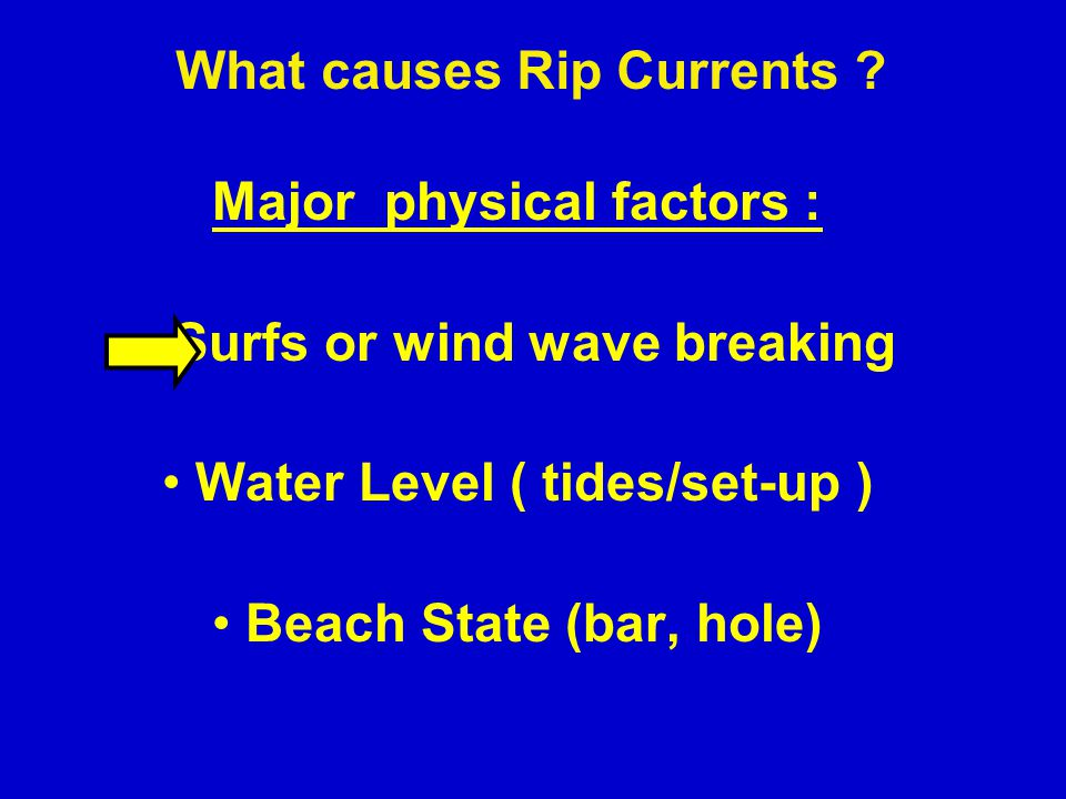 What causes Rip Currents .