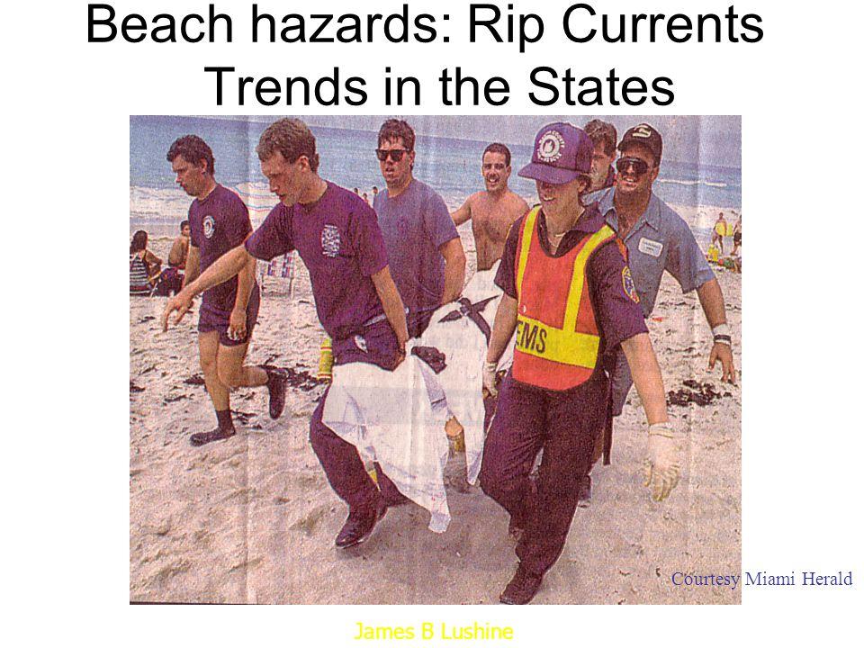 230 1 13 44 0 18 4 3 13 0 0 0 2 0 9 19 0 1 6 56 3 1 0 38 91 0 34 0 0 Guam GuamGuGuamGu 34 Samoa 3 PR/VI 10 Rip Current Deaths by State 1999-2008 Rip Current Deaths by State 1995-2008