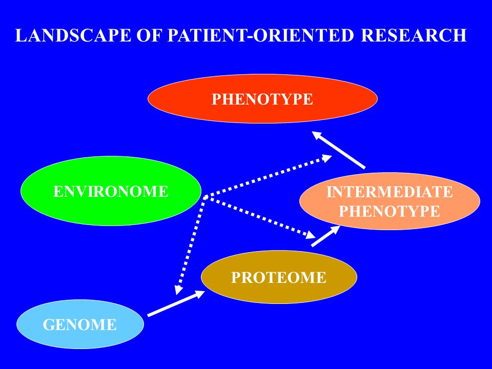 GENOME PROTEOME ENVIRONOME INTERMEDIATE PHENOTYPE LANDSCAPE OF PATIENT-ORIENTED RESEARCH