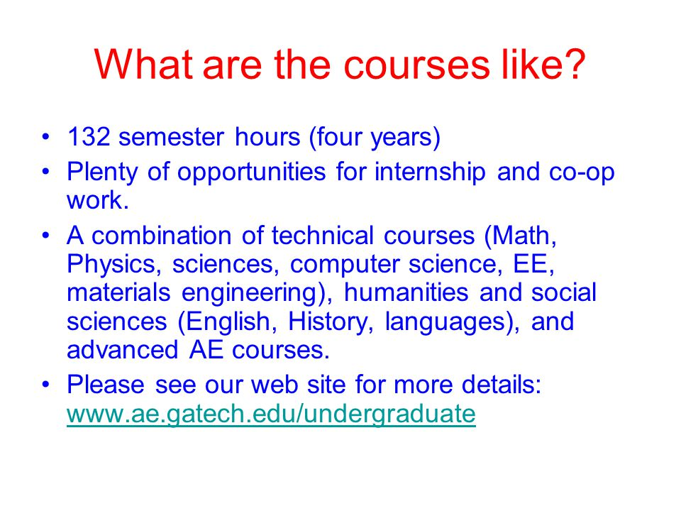 What are the courses like.