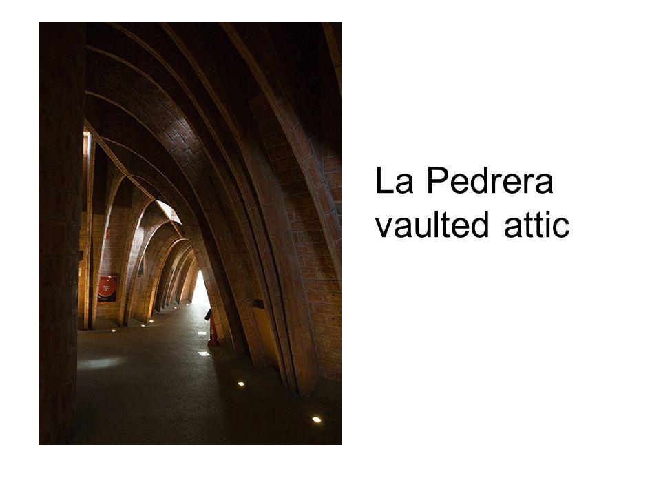 La Pedrera vaulted attic