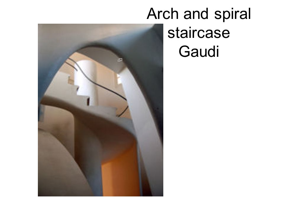 Arch and spiral staircase Gaudi