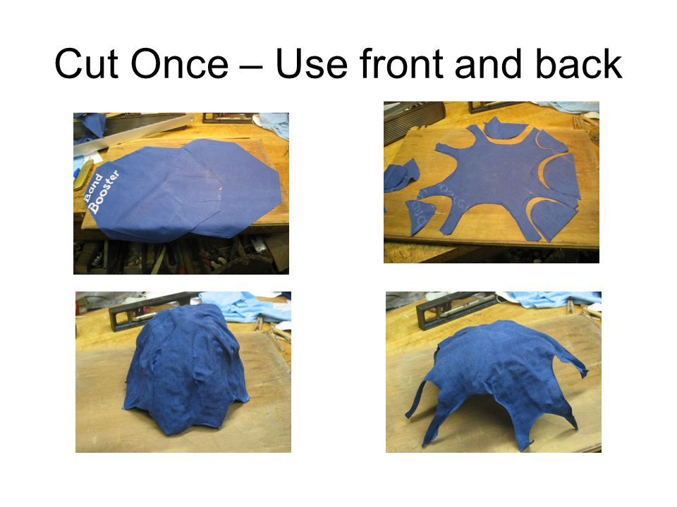 Cut Once – Use front and back