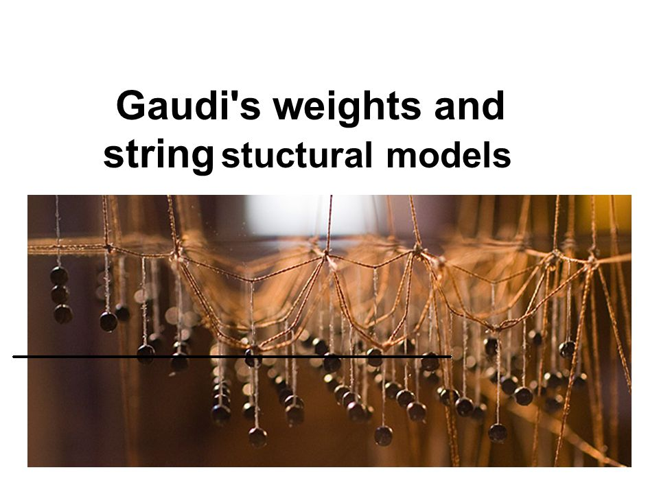 Gaudi's weights and string stuctural models