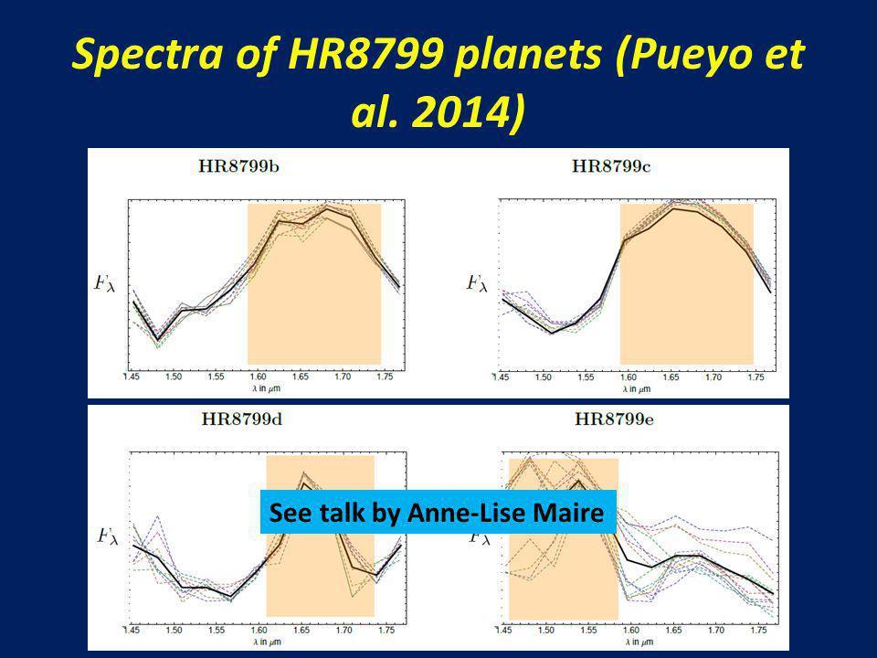 Spectra of HR8799 planets (Pueyo et al. 2014) La ricerca sui pianeti extrasolari in Italia, Roma, 5-7 novembre 2014 See talk by Anne-Lise Maire