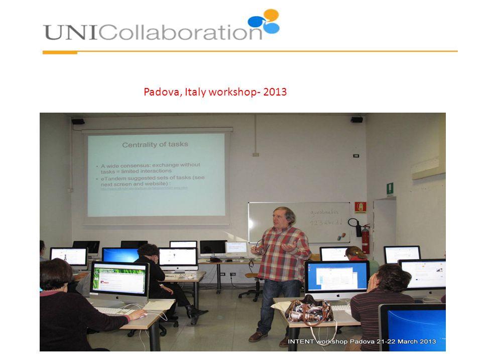 Padova, Italy workshop- 2013