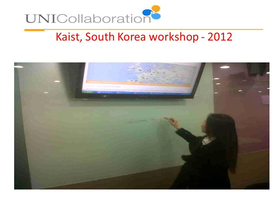 Kaist, South Korea workshop - 2012