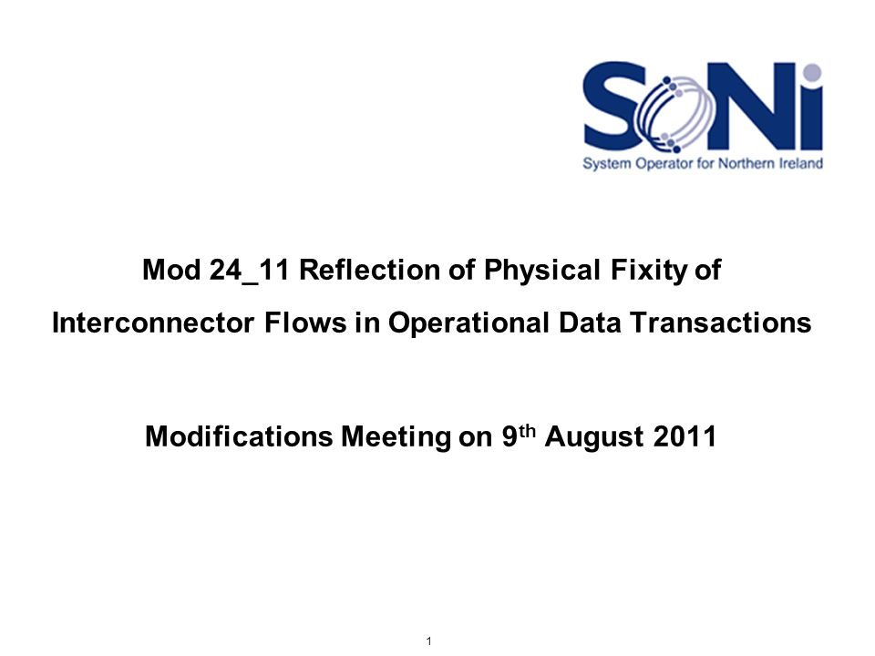 Interconnector Administrator Data feeds to SEM Current IA Submission Timelines for Ex Post runs D+1D+3D+4 IUNs MIUNs Meter file (includes Moyle data) SO – SO Trades 2 - Please note meter data is sent on a calendar day basis.