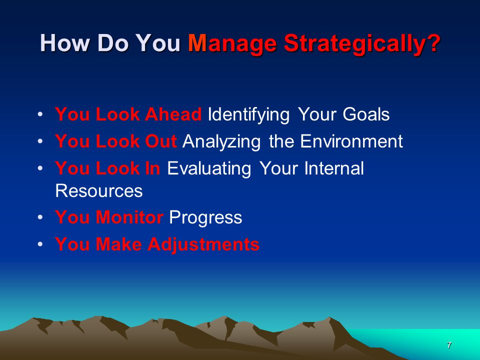 How Do You Manage Strategically.