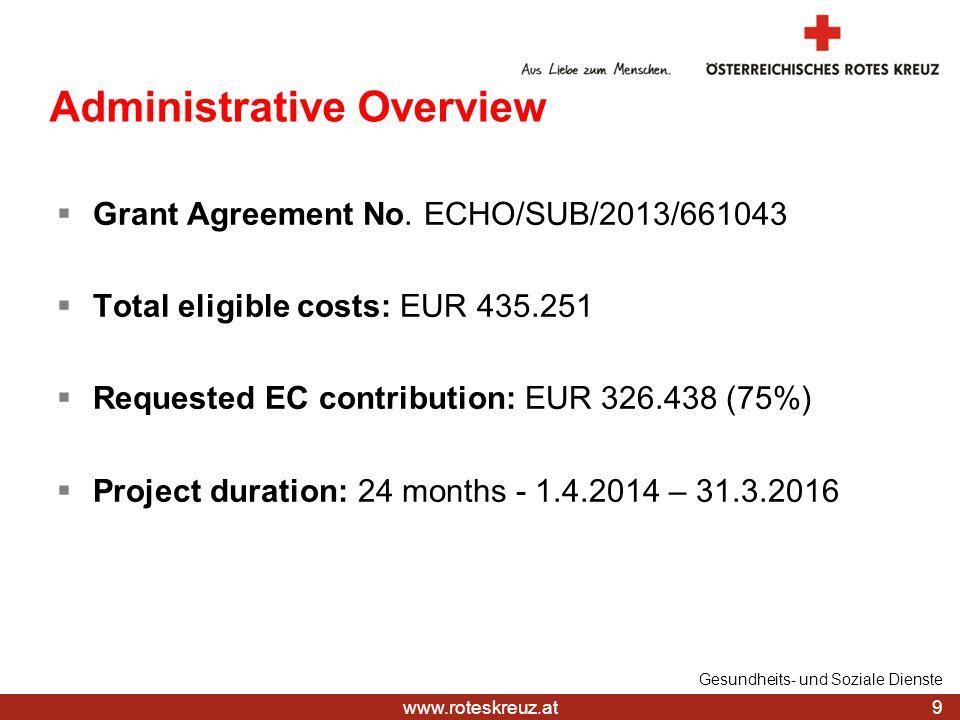 www.roteskreuz.at 9 Gesundheits- und Soziale Dienste  Grant Agreement No.