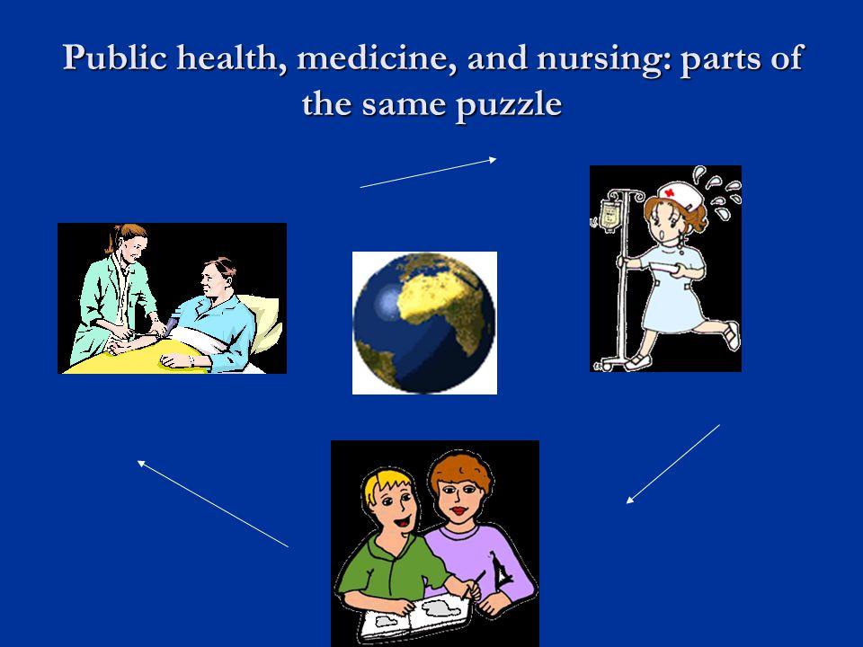 Public health, medicine, and nursing: parts of the same puzzle