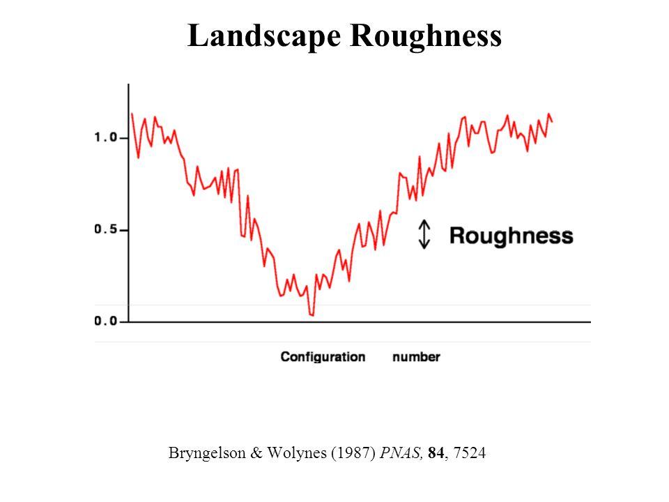 Bryngelson & Wolynes (1987) PNAS, 84, 7524 Landscape Roughness
