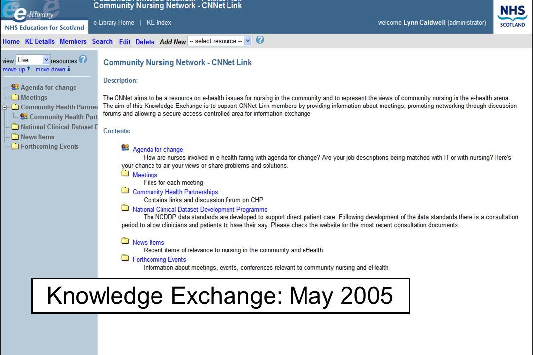 Educational Solutions for Workforce Development Allied Health Professionals Knowledge Exchange: May 2005