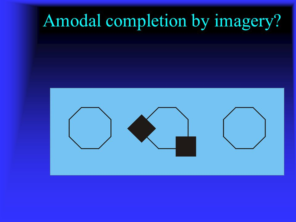 Amodal completion by imagery?