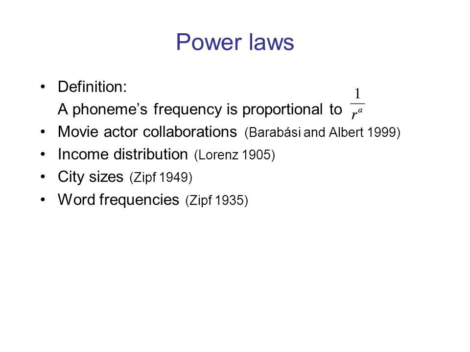 Preferential attachment Where do power law distributions come from.