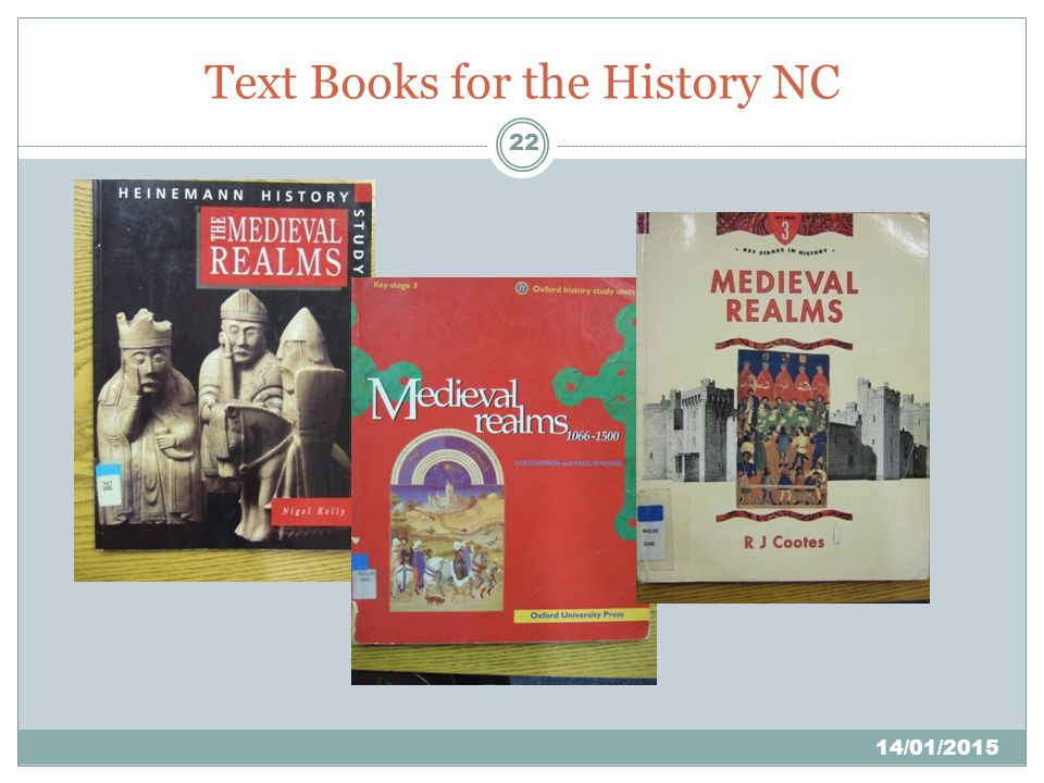 22 Text Books for the History NC