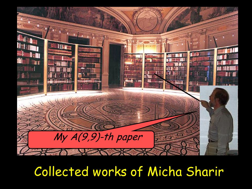 Collected works of Micha Sharir My A(9,9)-th paper