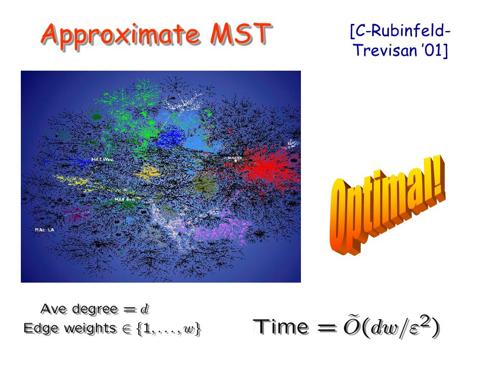Approximate MST [C-Rubinfeld- Trevisan '01]
