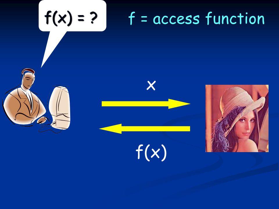 f(x) = x f(x) f = access function