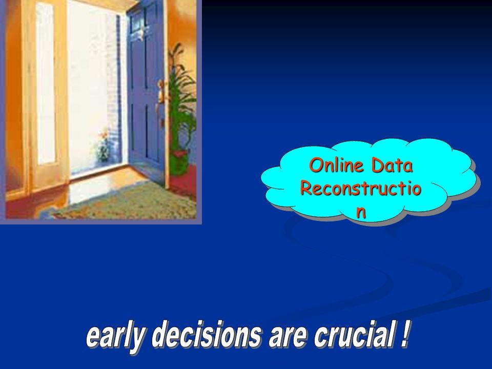 Online Data Reconstructio n Online Data Reconstructio n
